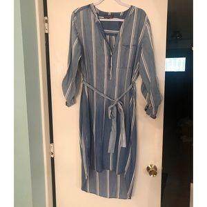 Denim style High Low shirt dress